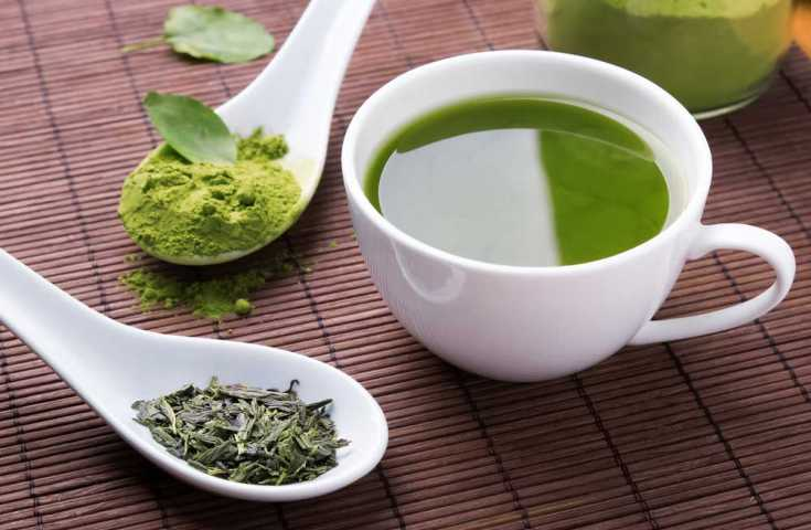 Green tea is filled with fat-burning antioxidants