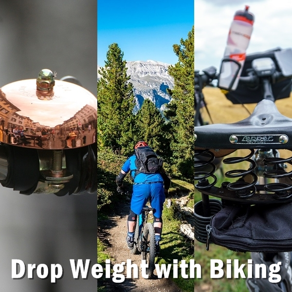 Drop Weight with Biking. When you ride, you need to try to go for some kind of resistance. This is because resistance makes your body work more. This makes your body work harder, your heart pumps harder, and it eventually helps you burn fat and calories at a faster rate.
